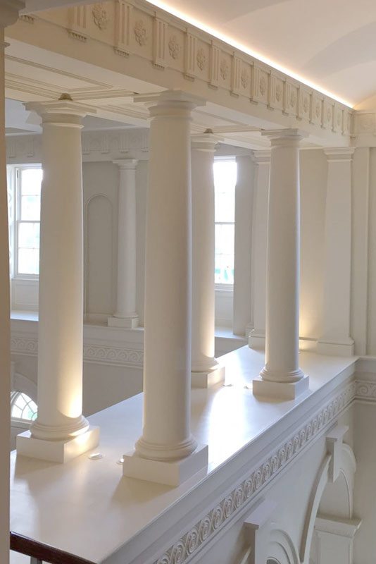 Architectural Columns In Plaster Grp And Stevensons Stone