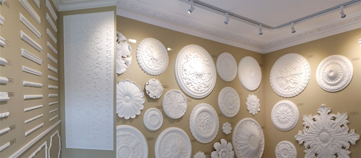 Plaster Panel Moulding Showroom