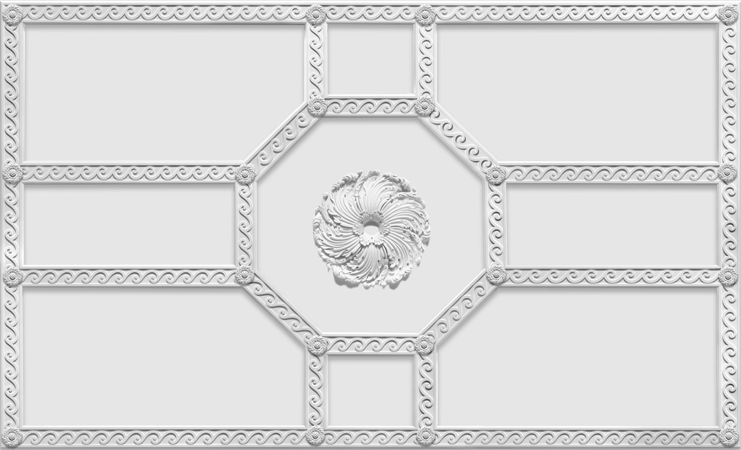Downing Street Plaster Strapwork Ceiling With Goodwood